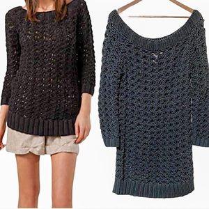 Diane Von Furstenberg DVF Black Viviana Sweater L